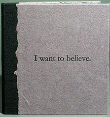 I want to believe book